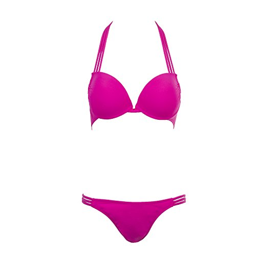 Women's Sexy 2 Pieces Bikini Push up Padded Swimsuit Swimwear Set (Rose-Red) (Sexy Thanksgiving Pictures)