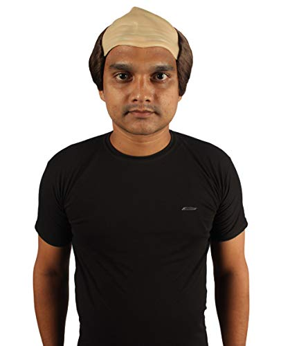 Balding Man Wig (Halloween Party Online Balding Wig, Brown Adult)