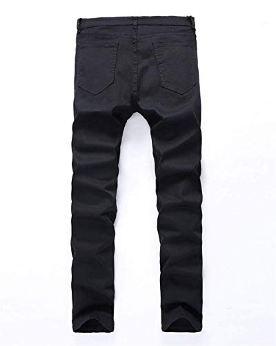 Knee Giovane Pantaloni Vintage Slim Jeans Cher Saoye Skinny In Holes Destroy The Nero Denim Strappati Aderenti Uomo Elasticizzati Stretch Casual Pants Da Fashion ARSTSnPz