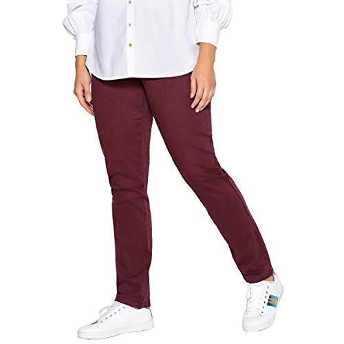 CASTALUNA Donna Pantaloni Slim 5 Tasche Prugna