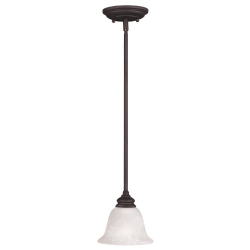 Livex Lighting 1340-07 Essex 1-Light Mini Pendant, Bronze ()