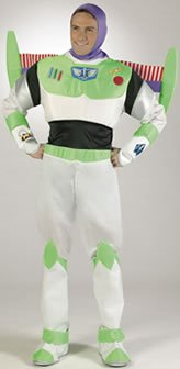 Buzz Lightyear Fancy Dress Adult (Mens Buzz Lightyear Prestige Costume(42 To 46-As Shown))