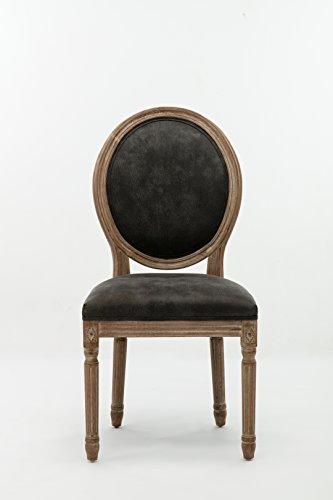 Boraam 84318 Joy Dining Chair with Nailheads, Set of 2, Brush Finish