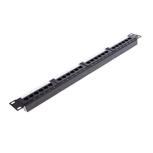 Baosity 24Port CAT6 Fast 100M Network Patch Panel Surface Rackmount T568A 19'' by Baosity