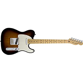 Fender American Standard Telecaster Electric Guitar, Maple Fingerboard, 2-Tone Sunburst