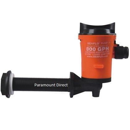 NEW 800gph Angled Cartridge Livewell Pump Aerator 12v Unlike Shurflo Rule