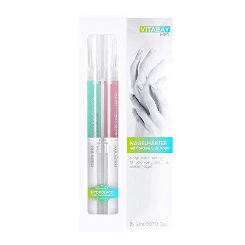 Nagelhärter Duo-Set 2 x 2 ml - mit Calcium und Biotin+ gegen brüchige, rissige NägelNagelhärter Duo-Set 2 x 2 ml - mit Calcium und Biotin+ gegen brüchige, rissige Nägel