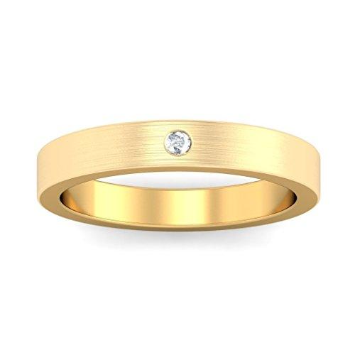 14K Or jaune, 0,02carat Diamant Blanc (IJ | SI) en diamant
