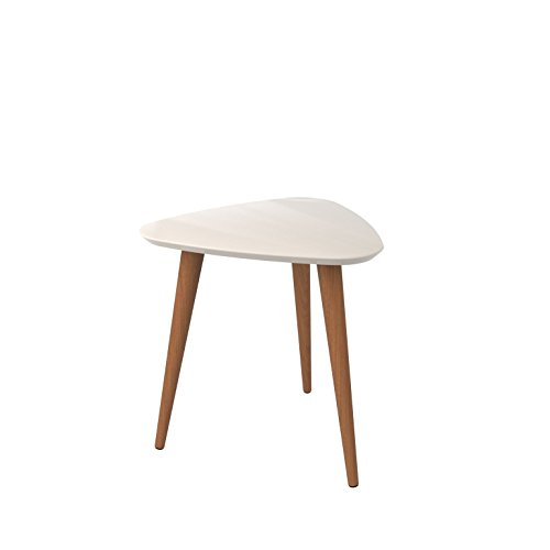 Manhattan Comfort 89852 Utopia High Triangle End Table, Off Off White