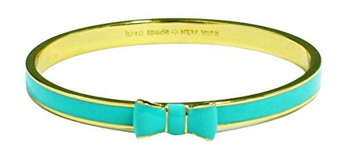 Kate Spade New York Take a Bow Bangle Bracelet, Giverny Blue with Gold Tone Trim