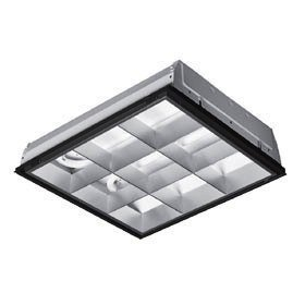 2x2 Lay in 2 U Light 32W Parabolic Fixture Close To Ceiling Light