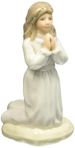 (Cosmos 10426 Fine Porcelain Praying Girl in White Dress Figurine, 4-Inch)