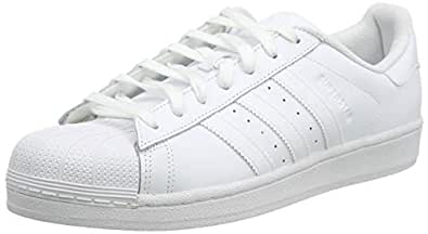 adidas, Superstar Foundation Sneakers, Men's Shoes, White/White/White, 7.5 US