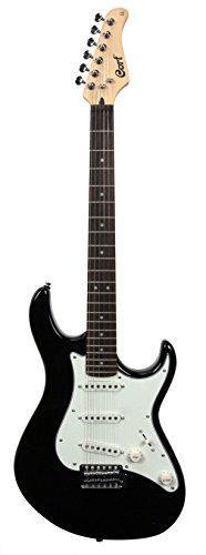 Cort G240BK Double Cutaway Electric Guitar Duncan Designed SC101 Pickups, Black
