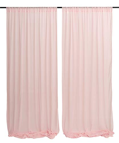 Baby Show Party Backdrop Light Peach Curtain Background Birthday Wedding Decoration Fabric Backdrop 9.8ftx8ft -