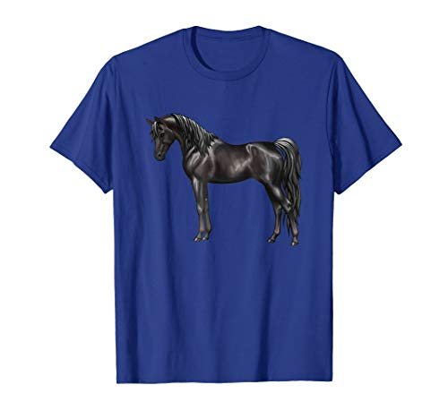 Beautiful Solid Black Arabian Horse Lovers Tshirt]()