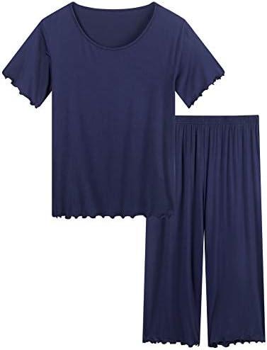 Joyaria Womens Ultra Soft Capri Pajamas Cooling Summer Pj Set