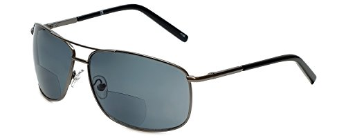 Corinne McCormack Designer Bi-Focal Reading Sunglasses Jordan in Gunmetal +1.50 by Corinne McCormack