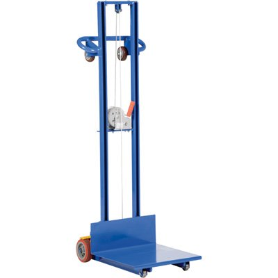 Vestil LLW-202058-FW Light Load Lift with Hand Winch, Steel, 29-3/4'' Length, 20-1/16'' Width, 66-1/2'' Height, 500 lbs Capacity by Vestil