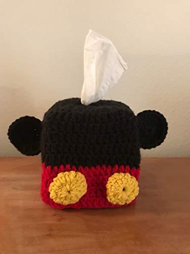 Handmade Crochet Tissue Box Cover Mickey Mouse
