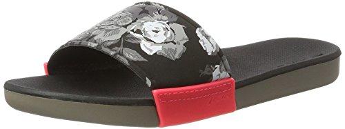 Rider 82135-00, Chanclas Mujer Multicolor (Grey/Black/Pink)