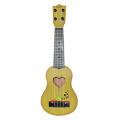 Nivalkid Beginner Classical Ukulele Guitar Educational Musical Instrument Toy for Kids Intelligence Balance Left & Right Brain Development Cultivate Art Cells Music Talent (Yellow)