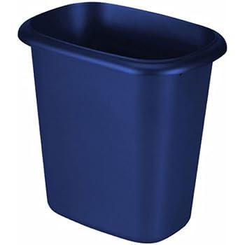 Rubbermaid Waste Basket, 6-Quart, Blue