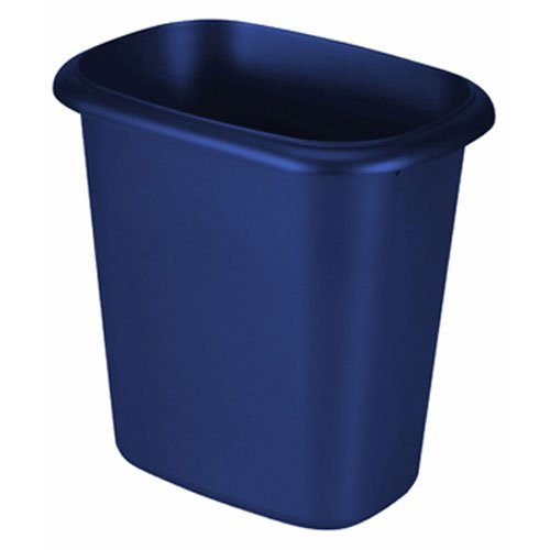 Rubbermaid Waste Basket, 6-Quart, Blue (Vanity Plastic Wastebasket)