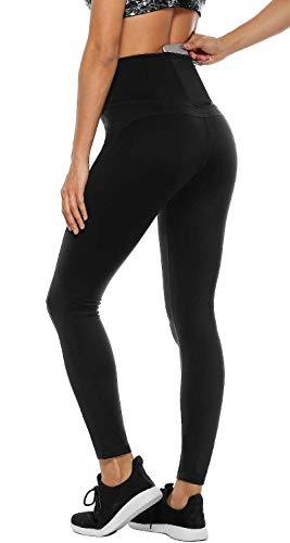 Anwell Leggings Damen lang mit Handytasche Tights High Waist Yogahose Sport