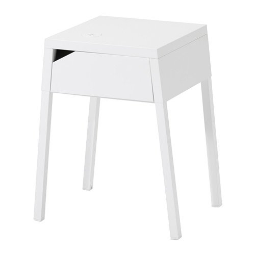 Ikea Nightstand with wireless charging, white 14202.291429.2218 by IKEA