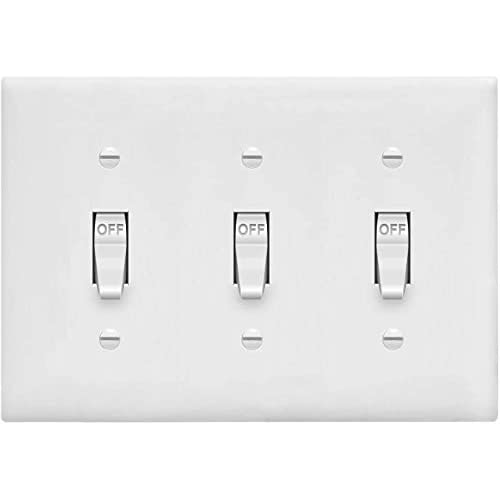 Electrical Enerlites Toggle Light Switch Wall Plate Size 3 Gang 4 50 X 6 38 Ivory Unbreakable Polycarbonate Thermoplastic 8813 I Tools Home Improvement Belasidevelopers Co Ke