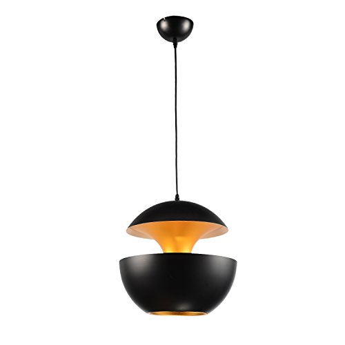 LightInTheBox Metallic Classic Vintage Designer Pendent Light Pastoral Boho Feature Chandelier Anti-Glare Cute Mini Slim Line Swing Arm Lamps Lighting Fixture for Dining Room, Living Room (Black)
