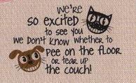 We're So Excited ... Funny Indoor Outdoor Doormat