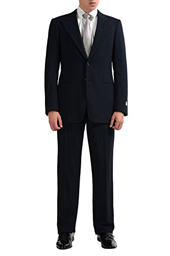Armani Collezioni Men's 100% Wool Striped Two Button Suit US 38R IT 48R
