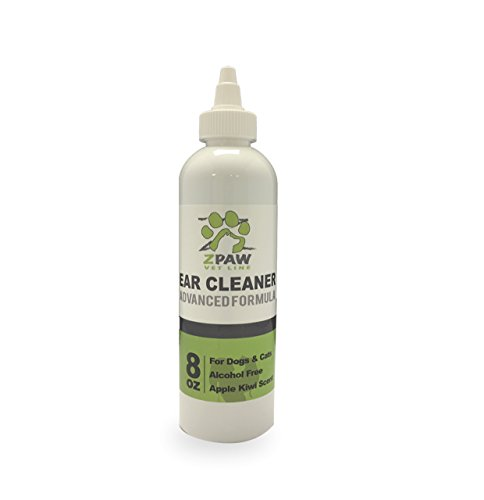 ZPAW Dog Ear Cleaning Solution Advanced Formula By Ear Cleaning Solution For Dogs Infection and Yeast Infection Treatment for Dogs Antibiotic Ear Wash Alcohol Free Apple and Kiwi Scent (8oz)