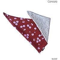 Baberini Cereza (rojo ladrillo y cereza rosa) babero, bandana, babi, pechero, paliacate