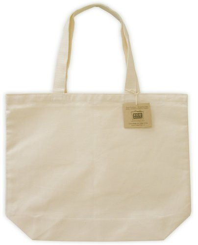 Amazon.com: Canvas Tote, EveryDay Shopper, Natural: Reusable ...