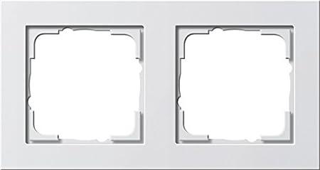 021529 Rahmen 5f reinwei/ß E2 reinwei/ß gl/änzend GIRA Serie Standard 55