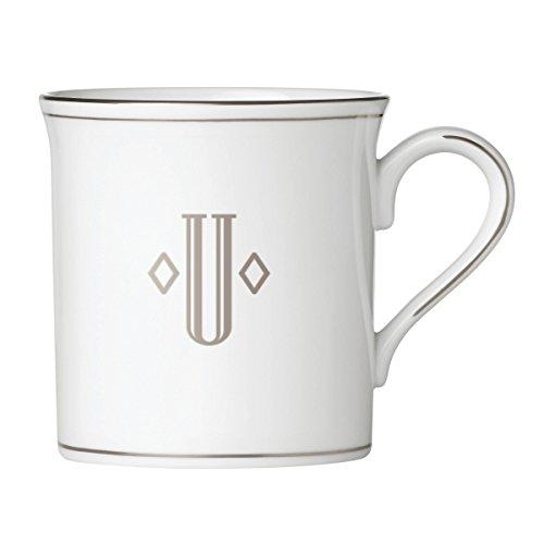 Lenox 874499 Federal Platinum Monogrammed Mug