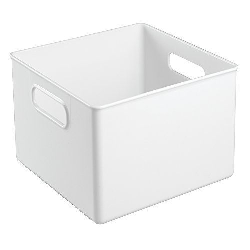 InterDesign Kitchen Pantry and Cabinet Storage and Organization Bin, 8-Inch by 8-Inch by 6-Inch, White
