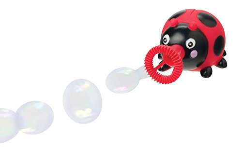 Animal Bubble Blower Toy - Dip and Squeeze - No Blowing Needed! (Red ()
