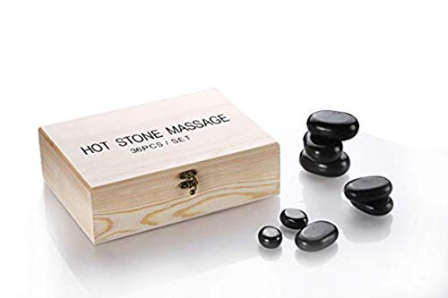 - Funnylife Health and Fitness Basalt Lava Hot Stone Massage Kit with 36 PiecesNew and Improved Packaging