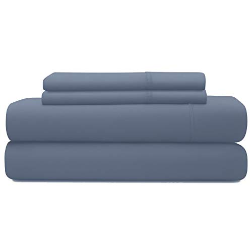 LINENWALAS Tencel Bed Sheets Queen - Softest and Thermal Regulating Sheets - Silk Like Soft Bed Sheet Set - 100% Natural Tencel Bedding (Queen, Bahamas Blue)
