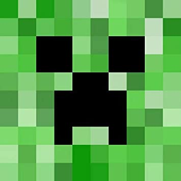 Minecraft Creeper Face Not Exploding Edible Cake Topper