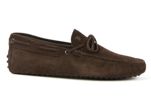 Tod's Mens Shoes Dark Brown Gommino Front Tie Moccasins USA Size 7 (Printed Size 6) T149