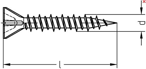 Bohrspitze d: 3,5mm, l: 25mm, 1 St/ück Rigipsschrauben Schnellbauschrauben Trockenwandschrauben phosphatiert Menge und Art individuell w/ählbar