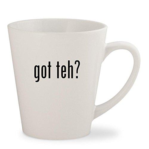 got teh? - White 12oz Ceramic Latte Mug Cup