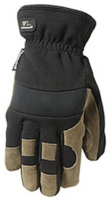 Wells Lamont Suede Work Gloves with Cowhide, Spandex Back, 60 Gram Thinsulate, Slip On