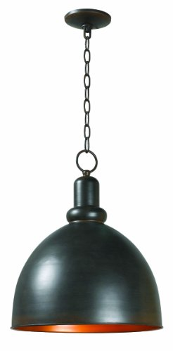 World Imports 9311-42 Loft Collection Single Light Iron Pendant, Rust ()