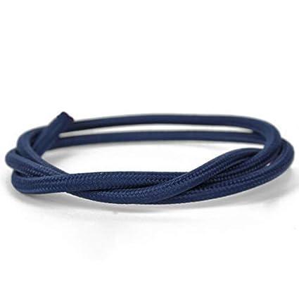 Cable el/éctrico Decorativo de Tela 5m 2x0.75mm de Color Azul BeMatik